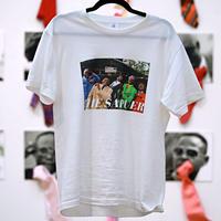 Unisex T-Shirt / W01(サプールを象徴するSAP CHANO の傑作・ ボディカラー=白)