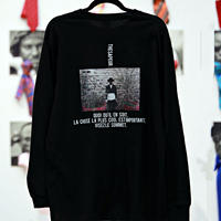 Unisex LONG T-Shirt / L03( ROBYのポートレート・ボディカラー=黒)