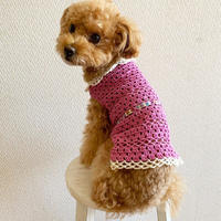 【 Pattern】Crochet Dog Cotton Wear