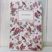 野鳥たちのノート /ミドルサイズ(ピンク)