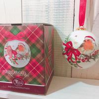 【フェッチェンロイター】サンタのコマドリ(クリスマス オーナメント・専用箱つき)