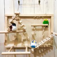 小鳥玩具店宇里さまバードアスレチック(札幌店限定ver. 壁掛けタイプ)※木工用ボンドつき