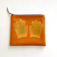ポーチ [軍手] オレンジ / Zipper Pouch -Work gloves-