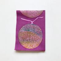 手ぬぐい [メロン] 赤紫 / Tenugui -Melon-