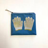 ポーチ [軍手] 青 / Zipper Pouch -Work gloves-