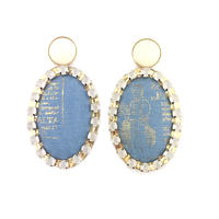 ad print earring(gorgeous type)/blue