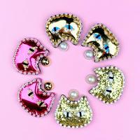 cat earrings/pierced earrings
