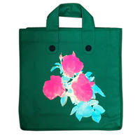 Rose Garden BAG/Forest Green(Green Line)
