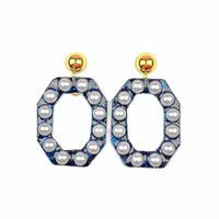 bring bring earrings/glitter midnight navy