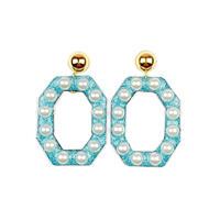 bring bring earrings/glitter light blue