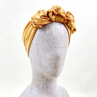 stretch velor turban/mustard