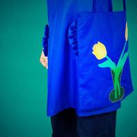 cutout tote bag/tulip &vase
