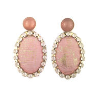 ad print earring(gorgeous type)/pink