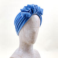 stretch velor turban/light blue
