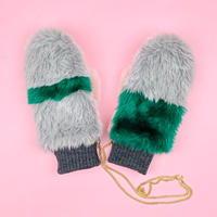 color block mittens glove #2