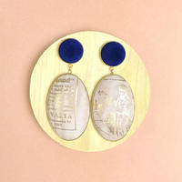 ad print earring(swing type)/cafe au lait