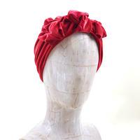 stretch velor turban/dark red