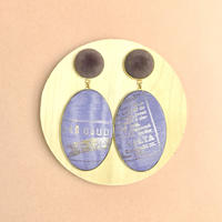 ad print earring(swing type)/lavender