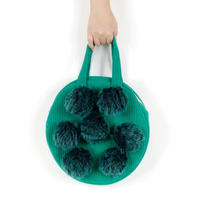 vivid corduroy circle bag/ forrest green