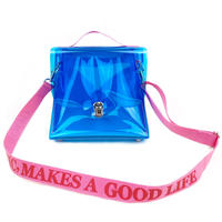 7inch  PVC  Record BAG /Blue×Pink