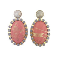 ad print earring(gorgeous type)/terra cotta