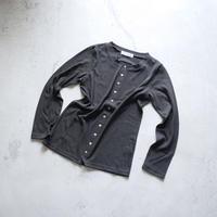 CD51   甘撚りCネックカーディガン