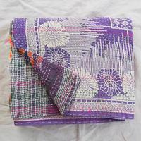 ラリーキルト  紫×花柄
