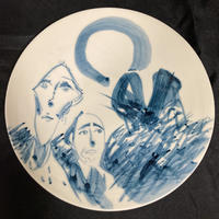 [陶芸作品] 弥次喜多 手描き皿「由比」