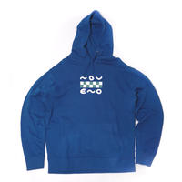 CHECKER HOODY BLUE