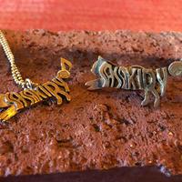SASAKI RYO CAT LOGO 真鍮ネックレス&ピンバッチセット(完全受注)