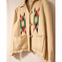 """50's """"GANSCRAFT"""" Chimayo Blanket Jacket"""