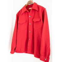 "40's ""BRENT"" Loop Collar Wool Shirt"