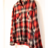 """60's MONTGOMERY WARD """"BRENT""""Ombre Check Shirt"""