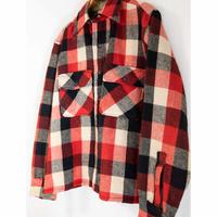 """50s """"PILGRIM"""" Wool  Block Check Shirt"""