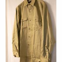 60's Deadstock LEE Chetopa Twill Long Sleeve Work Shirt
