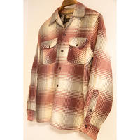 50~60's Ombre Check Wool Shirt