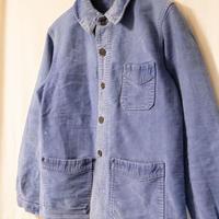 30's~40's A.S Michel Blue Moleskin Jacket