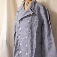 60's French VETRA Double Breasted Cook Coat