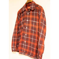 """60's """"Sears"""" Ombre Check Long Sleeve Shirt"""