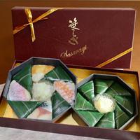4種ミックス(〆さば・海老・穴子・小鯛)8個入り2パック(化粧箱入り)
