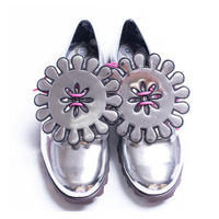 """MEXICAN (SILVER)"" Satanicpornocultshop Shoes"