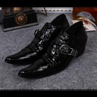 ドレススーツワニ革靴ポイントイングランドシューズ