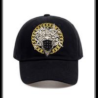 城メデューサ野球帽ユニセックスコットンキャップフィットキャップ