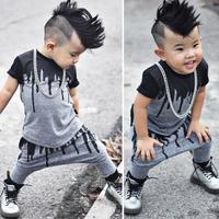 2ピース新生児幼児幼児子供赤ちゃん男の子服Tシャツトップス+パンツ衣装セット