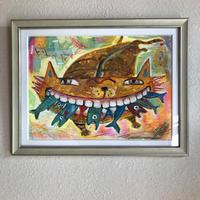 「サプリメント!」猫と魚の絵 ST112