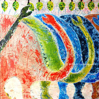 ブロントサウルスの絵「みのり」SATOO/ST018