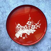 漆器 お盆(赤)
