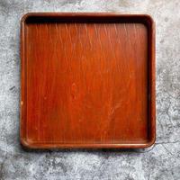 木製アンティーク トレー(お盆)29cm角