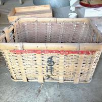 巨大で丈夫な竹製バスケット(67cm×45cm)