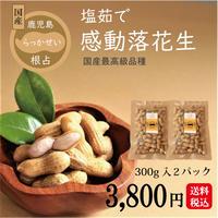 国産 【冷凍】塩茹で落花生 300g2パック